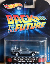 DeLorean Time Machine 2 Back To The Future Retro 1:64 Hot Wheels FLD13 DMC55