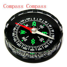 Survival Liquid Compass Hiking Camping  Mini Pocket Filled Outdoor Button