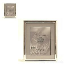 Metal Picture Frame Silver-Plate Delicate Beading 8x10-In Home Decor Photo Accs