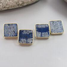Manschettenknöpfe mit Lapis Lazuli in 585/14K Gelbgold