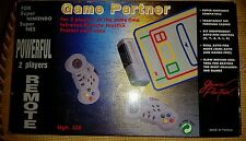 Game Partner Super Nintendo Controllers Wireless Complete in Box CIB SNES Joypad