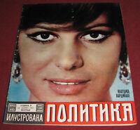 Claudia Cardinale ILUSTROVANA POLITIKA Yugoslavian April 1967 ULTRA RARE
