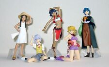 Set 5 Figure EVA GAINAX Sexy Girls EVANGELION NADIA etc. BANDAI JAPAN Figures