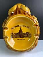 Vintage Ashtray Frog Washington DC US Capitol Ash Tray Made In Japan