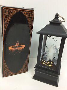 "8"" Halloween Vintage Pumpkin  Light Lamp Hanging LED Lantern Party Decoration"