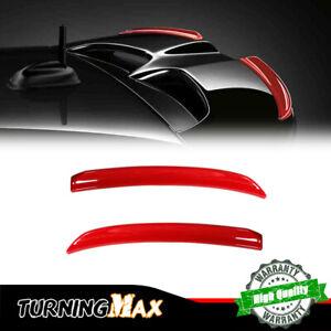 Rear Wing Trim Spoiler Extension Lip Fins for Mini Cooper F56 F55 S/JCW - Red