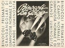 W2710 Binocoli SAN GIORGIO - Pubblicità del 1940 - Old advertising