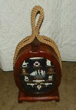 Oak Nautical Mantle Knot Display with Shelf Storage  (HD154)