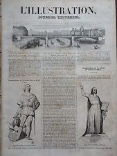 L' ILLUSTRATION 1843 N 29 STATUE DU ROI RENE et de l'ABBE DE L'EPEE