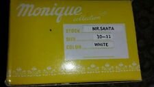 "Monique Mr. Santa Claus 10""-11"" white Synthetic Doll wig"