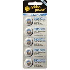5 PILES POUR MONTRE V392 SR41 G3 392A LR741 SR736 GOLDEN 1.55 V SILVER OXIDE