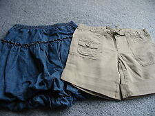 NWT GAP Girls Shorts - Size 8/ EUC Hanna Andersson Denim Bubble Skirt - Size 120