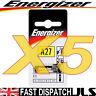 5 x Energizer 27A A27 MN27 12v Battery E27A EL812 L828