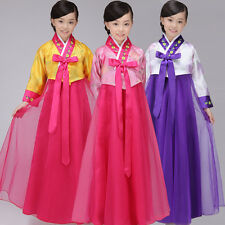 Classic Korean Traditional Hanbok Little Girls Dress Stage Costume Clothes New