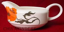 WEDGWOOD china CORNPOPPY pattern Gravy Boat - Suzie Cooper