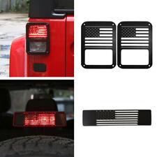 Usa Flag Tail Light Amp Brake Lamp Cover Guard Protector For Jeep Wrangler Jk 3pcs Fits Jeep