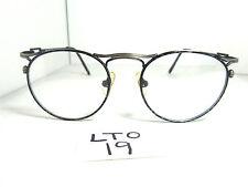 Nos Vtg JASON GREY Eyeglass Frame DE MI Madrid Black Round Metal Mens (LTO-19)