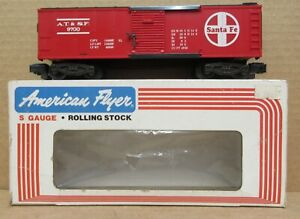 American Flyer 4-9700 Santa Fe Boxcar S-Gauge LNIB