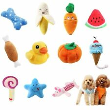 1pc Plush Dog Toys Squeaky Bone Ice Cream Carrot Puppy Chew Toy Interactive Cat