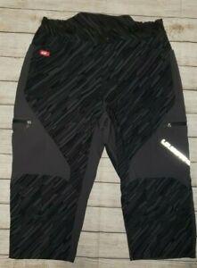 Louis Garneau Mens Cycling Long Shorts Grey Black No Liner K09 XXL   EUC  L@@K