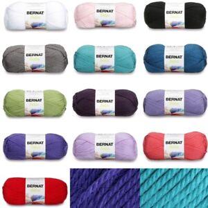 [BUY 10 GET 25% OFF] Bernat Satin 100g Yarn - Luxury Soft Aran Yarn