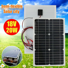 20W 12V Elfeland Semi-flexible Solar Panel For RV Boat Caravan Battery Charger d