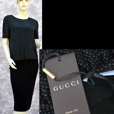 GUCCI New sz M Authentic Designer Cocktail Party Evening Black Dress