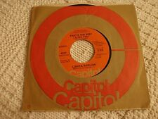 LORITA BARLOW  THAT'S THE WAY ILOVE YOU/I WANT YOU CAPITOL 4131 M-