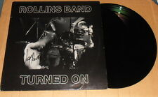 Henry Rollins, original signed LP cover * Rollins Band: turned on, rar