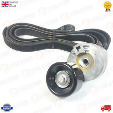 V-RIBBED DRIVE BELT TENSIONER + BELT WITH AIRCON FITS FORD TRANSIT MK6 2.4