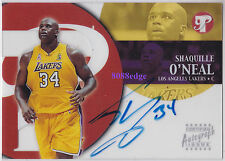 2002-03 TOPPS PRISTINE AUTO: SHAQUILLE O'NEAL - ON CARD AUTOGRAPH CLEAR ACETATE