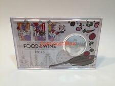 Epcot Disney Food & Wine Festival 2016 Passholder Coin Figment w/ Passport+Map!