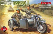Asuka Model 1/24 German Motorcycle Zundapp KS750 with Sidecar