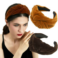 Winter Velvet Headband Knotted Wide Hairband Sports Thick Women Hair Accessories