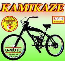"""DIY 2-STROKE 66CC/80CC MOTORIZED BICYCLE KIT WITH 26"""" STRETCH GAS TANK BIKE"""