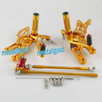 Footpegs Rearsets Foot Pegs Gold for Honda CBR 1000RR 2004-2007 600RR 2003-2006