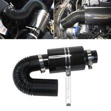"Universal 3"" Filter Box Black Carbon Fiber Induction Ram Cold Air Intake System"