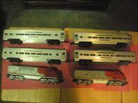 Vintage Lionel Set No.2190w,,and 4 passenger Cars No.2531,2532,2533,2534