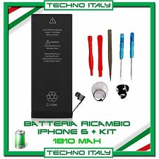 BATTERIA ORIGINALE NUOVA per APPLE IPHONE 6 1810 mAh  RICAMBIO 0 CICLI CON KIT