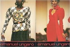 ▬► PUBLICITÉ ADVERTISING AD Emanuel Ungaro 3 pages Haute Couture 1993