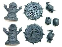 Blood Bowl Lizardmen Tokens markers and balls Gwaka'moli Crater Gators