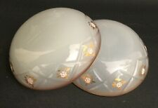 Pair Beautiful Antique Opaline Trinket Dishes