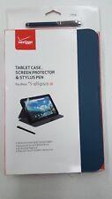 Ellipsis 10 Tablet Case Bundle: Screen Protector & Stylus Pen Blue Verizon