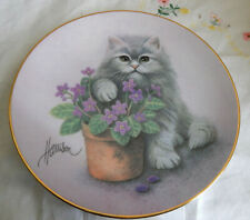 """A Paw'S In The Action Plate Curious Kittens 8 1/2"""" Coa"""