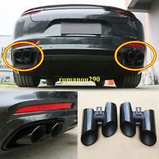For Porsche Panamera 2017-2019 Stainless black Rear Exhaust Muffler Tip End Pipe