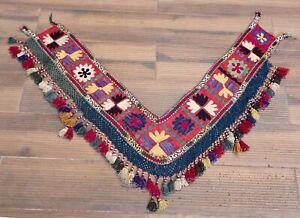 """8.66"""" x 49.61"""" Tassel Segusha Belly Dance Uzbek VINTAGE FAST Shipment UPS 12025"""