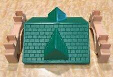 Lincoln Logs 1 Green Roof Top 2 Tan Trusses Truss Replacement Parts Pieces