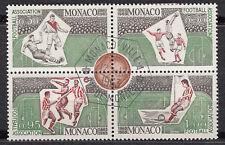 TIMBRE bloc MONACO obl N° 628 / 629 / 630 / 631   CENTENAIRE DU FOOTBALL