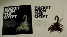 Rocket From the Crypt 1995 Org 2-sided Promo Album Flat Poster Scream, Dracula,