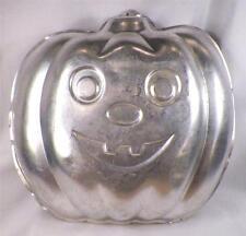 Wilton Pumpkin Cake Pan Aluminum Vintage 1987 502-9414 Halloween Small Dents